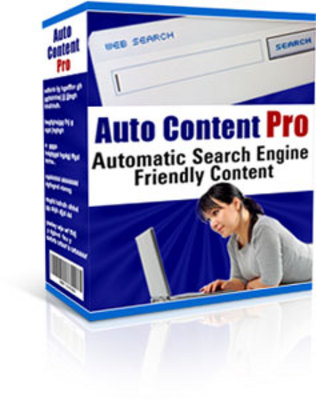 Product picture Auto Content Pro - Resale Rights + Ready-Made Mini Site