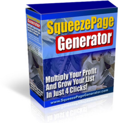 Product picture Squeeze Page Generator - Master Resell Rights + Mini-site